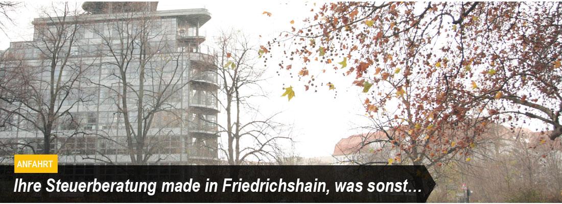 M&B Steuerconsult - Standort, hier finden Sie uns in Berlin-Friedrichshain - Anfahrt